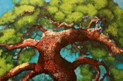 서양화가 조경, 행복한 기운 전달하는 '소나무 그리고 희망' 개인전